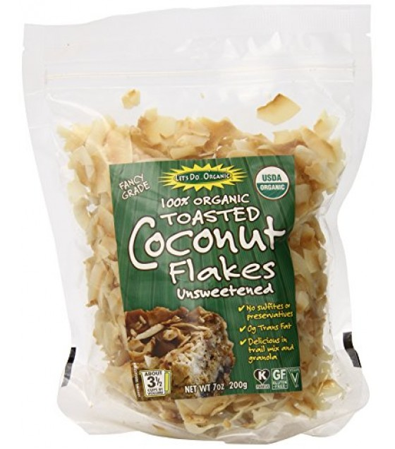 [Let`S Do...Organic]  Toasted Coconut Flakes, Unswt  100% Organic
