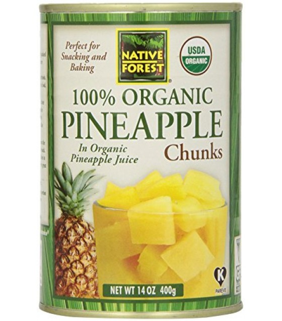 [Native Forest]  Pineapple Chunks  100% Organic