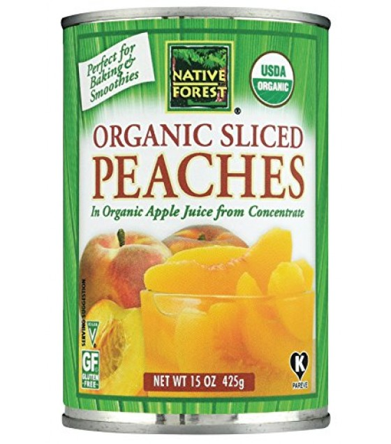 [Native Forest]  Sliced Peaches  At least 95% Organic