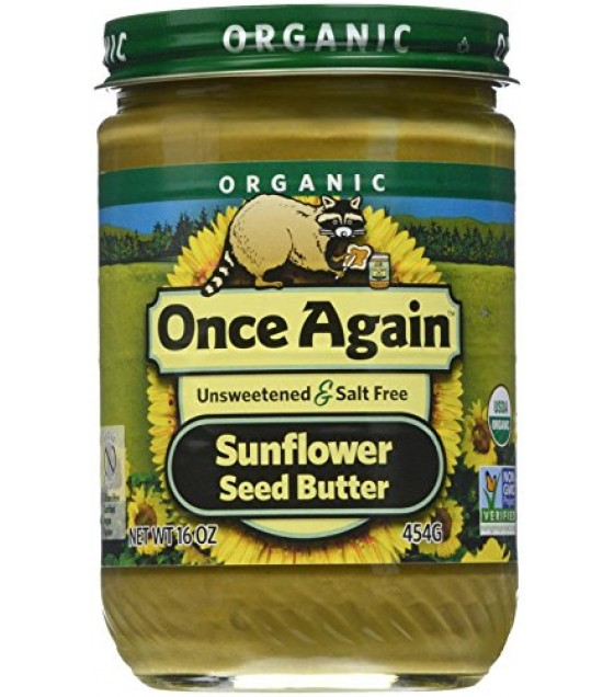 [Once Again] Seed Butters Sunflower, Salt/Sugar Free  At least 95% Organic
