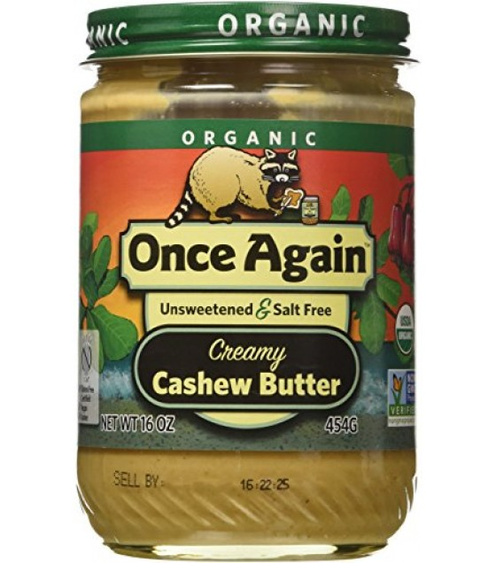 [Once Again] Nut Butters Cashew  At least 95% Organic