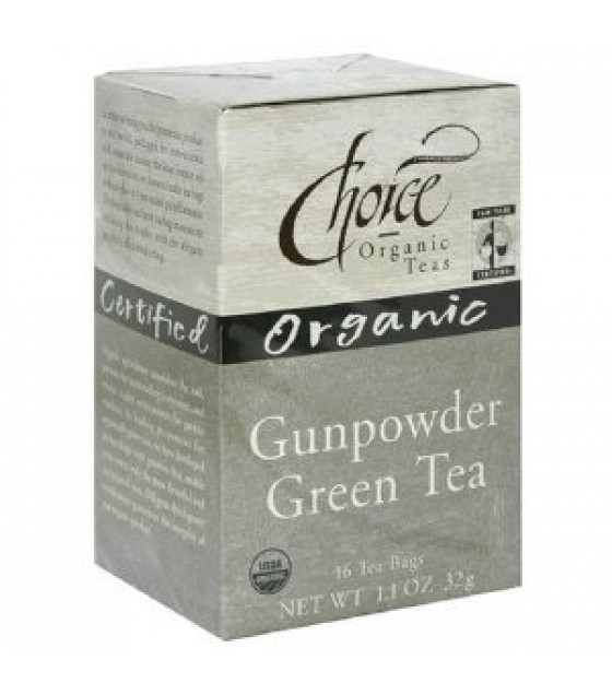 [Choice Organic Teas] Loose Leaf-Fair Trade Certified Teas Gunpowder Green  At least 95% Organic