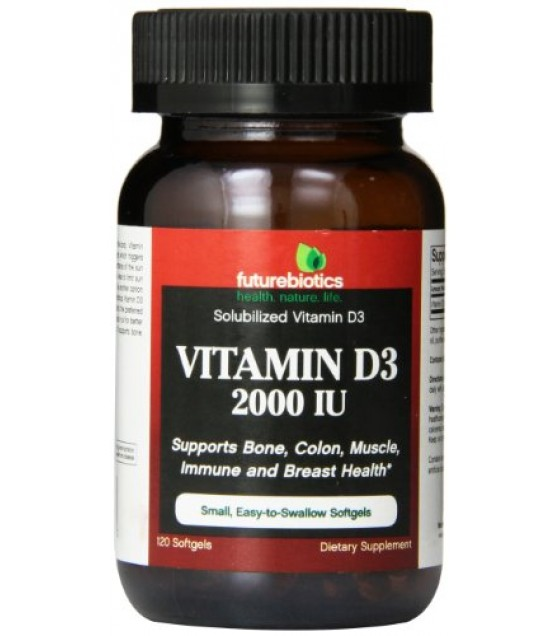 [Futurebiotics] VITAMIN D3,2000 IU