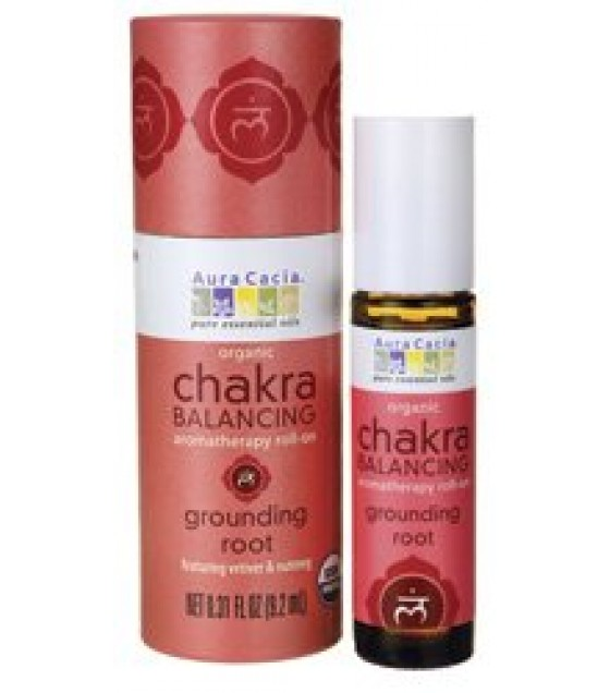 [Aura Cacia] Chakra Balancing Grounding Root, Roll On