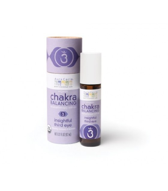 [Aura Cacia] Chakra Balancing Insightful Third Eye, Roll On