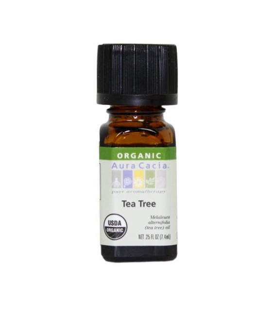 [Aura Cacia] Organic Essential Oil Tea Tree  At least 95% Organic