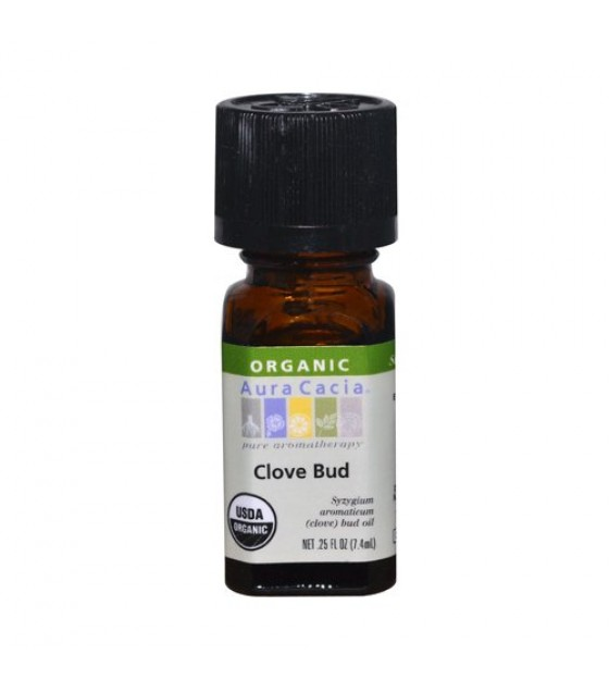 [Aura Cacia] Organic Essential Oil Clove Bud  At least 95% Organic
