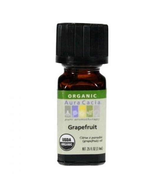 [Aura Cacia] Organic Essential Oil Grapefruit  At least 95% Organic