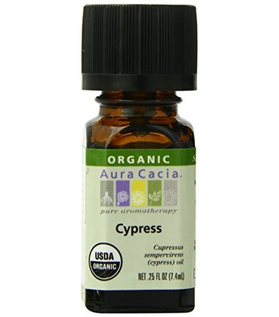 [Aura Cacia] Organic Essential Oil Cypress  At least 95% Organic