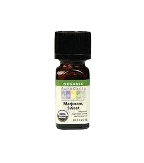 [Aura Cacia] Organic Essential Oil Marjoram, Sweet  At least 95% Organic