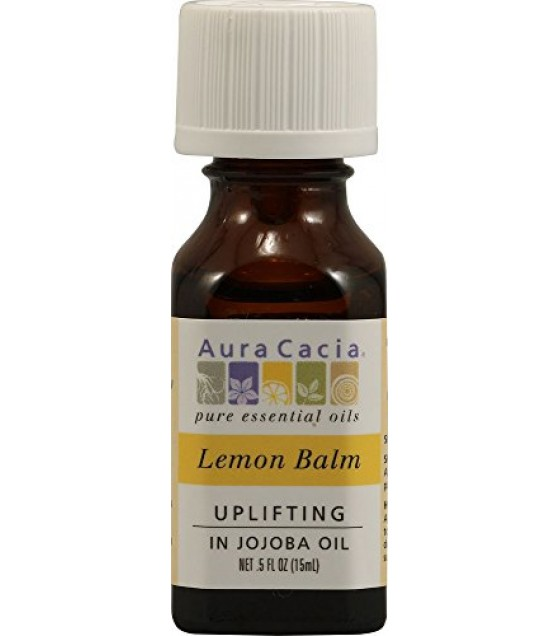[Aura Cacia] Precious Essentials Lemon Balm, Jojoba Oil