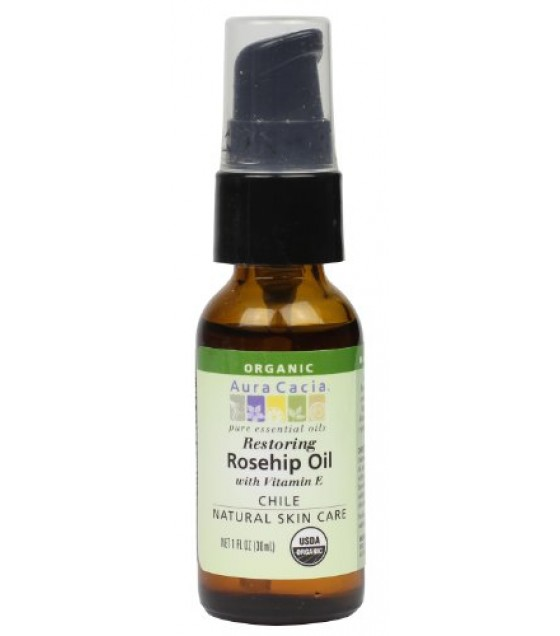 [Aura Cacia] Skin Care Oils Restoring Rosehip Oil/Vitamin E  At least 95% Organic