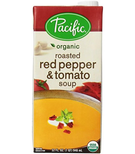 [Pacific Natural Foods] Soup Red Pepper & Tomato, Roasted  At least 95% Organic