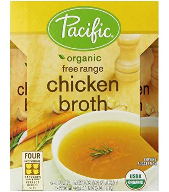 [Pacific Natural Foods] Organic/Natural Broth Chicken, Low Sodium  At least 95% Organic