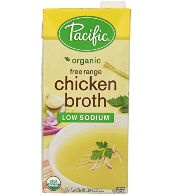 [Pacific Natural Foods] Organic/Natural Broth Chicken, Low Salt  At least 95% Organic