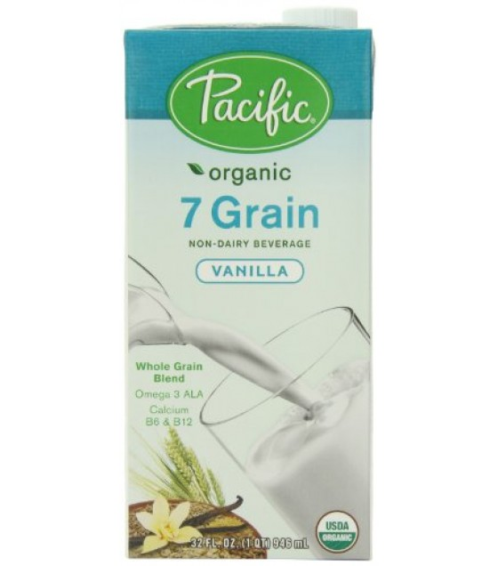 [Pacific Natural Foods] Oat/Multigrain Non Dairy Alternative Beverage 7 Grain, Vanilla  At least 95% Organic