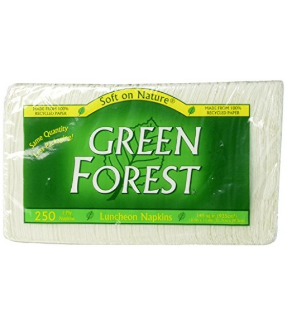 [Green Forest]  Luncheon Napkins, 1 Ply, 250 Cnt