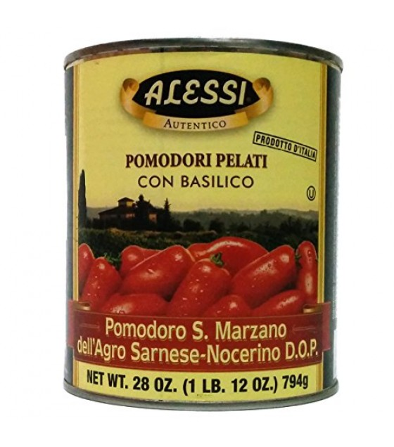 [Alessi]  Whole Peeled Tomatoes w/Basil