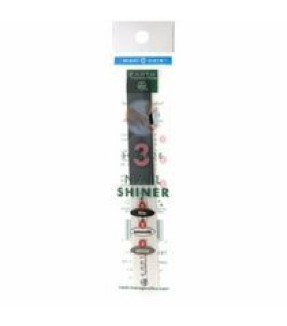 [Earth Therapeutics, Ltd.] Implements Nail Shine Stick, 3 Surface