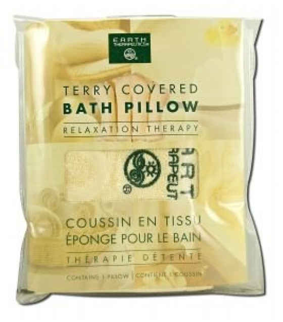 [Earth Therapeutics, Ltd.] Body Care Spa Accessories Terry Covered Bath Pillow, Nat