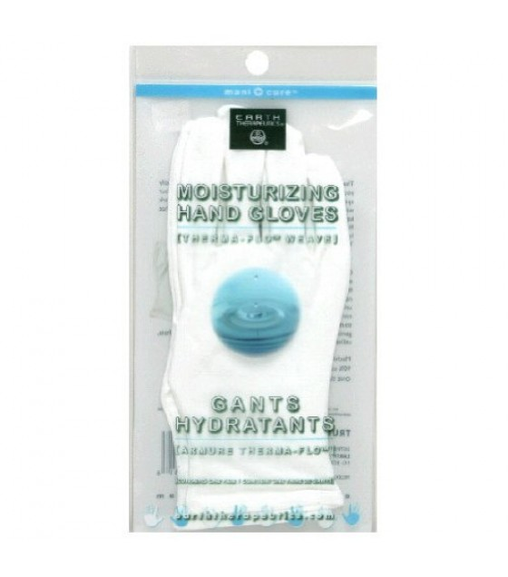 [Earth Therapeutics, Ltd.] Hand Therapy Moisturizing Gloves, White