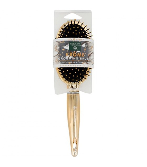 [Earth Therapeutics, Ltd.] Hair Brushes Krome Grooming Pointed, Gold