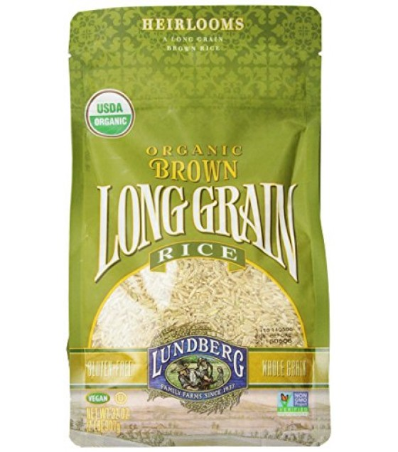 [Lundberg Family Farms] Grains Rice, Long Grain, Brown  100% Organic