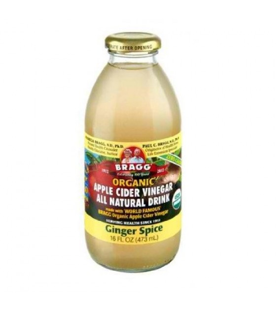 [Bragg] Apple Cider Vinegar Drink Ginger Spice  At least 95% Organic