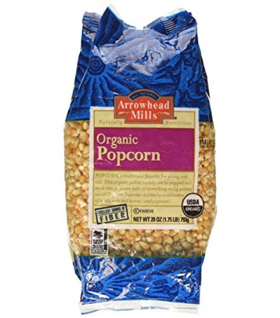 [Arrowhead Mills] Grains Popcorn, Yellow  At least 95% Organic