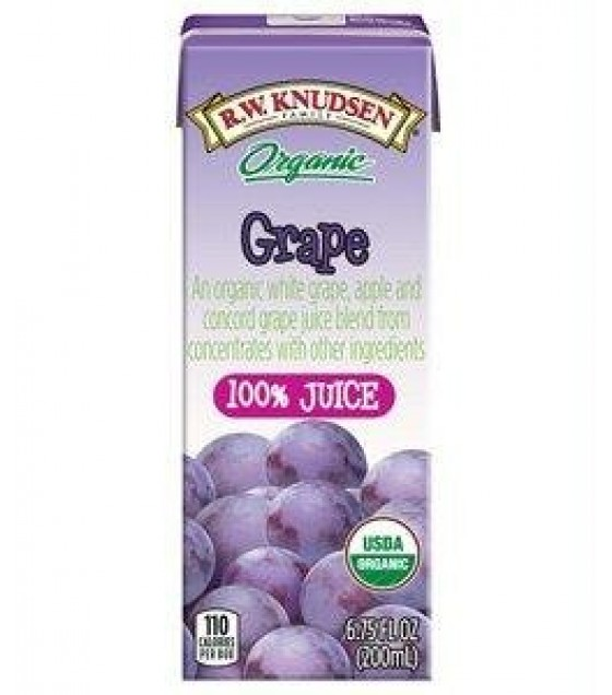 [R.W. Knudsen Family] Aseptic Juice Boxes 100%, Grape  At least 95% Organic