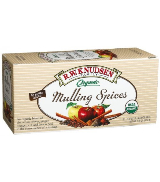 [R.W. Knudsen Family] Mulling Spice Bags Mulling Spices  At least 95% Organic