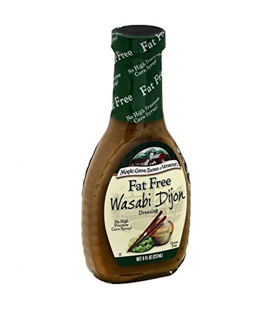 [Maple Grove Farms] Salad Dressing Bottled Wasabi Dijon, Fat Free