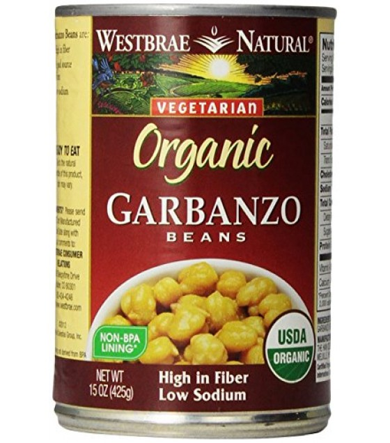 [Westbrae] Beans Garbanzo, Low Fat  At least 95% Organic