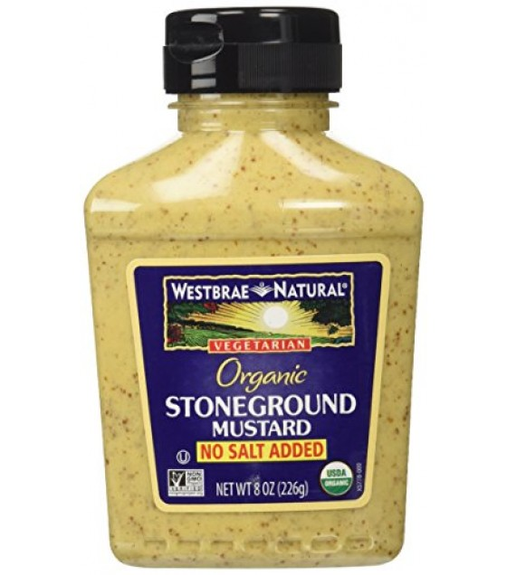 [Westbrae] Condiments Mustard, Ns,Stonegrnd w/Seed, Sqz