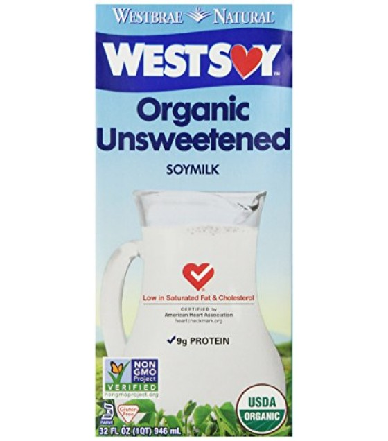 [Westsoy] Soy Beverage Quarts Unsweetened  At least 95% Organic