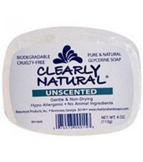 [Clearly Natural] Glycerine Soap Unscented