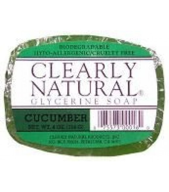 [Clearly Natural] Glycerine Soap Cucumber