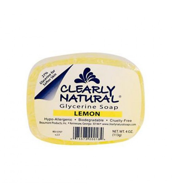 [Clearly Natural] Glycerine Soap Lemon