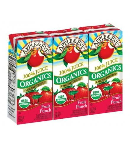 [Apple & Eve] Organic Juices Fruit Punch  At least 95% Organic