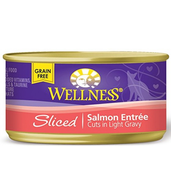 [Wellness] Canned Cat Food Sliced Salmon Entree