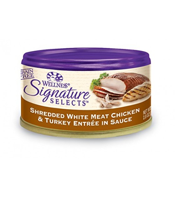 [Wellness] Signature Selects-Cat Food, Canned Shredded Wht Mt Chkn/Trky in Sce
