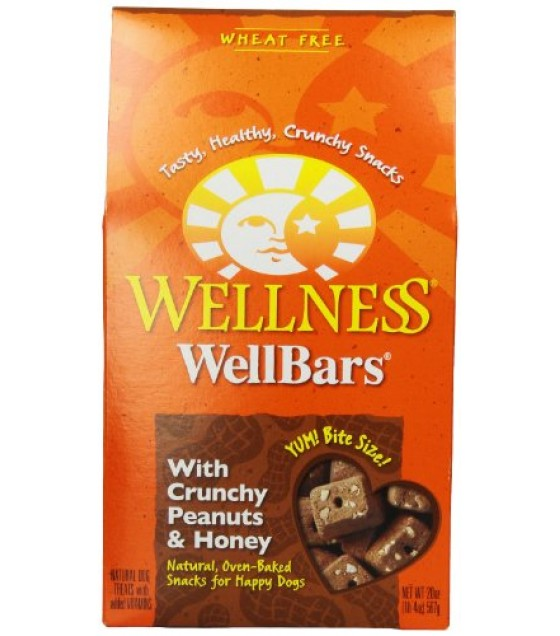 [Wellness] Dog Treats WellBars, Peanut & Honey