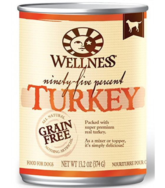 [Wellness]  Ninety Five Turkey Dog Canned