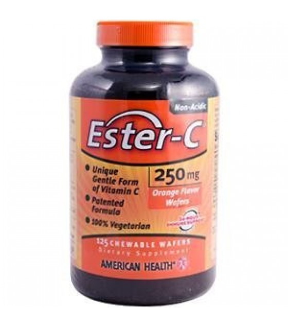 [American Health] Ester-C 250mg Chewable Wafers (Vegetarian)