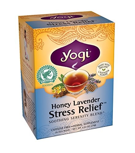 [Yogi Teas] Tea For Your Spirit Honey Lavender Stress Relief  At least 70% Organic