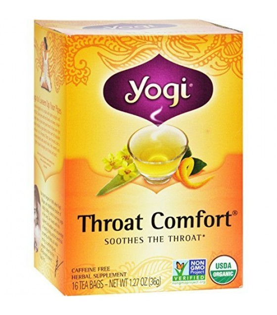 [yogi] Throat Comfort Tea;made With Organic Ingredients