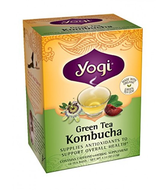 [Yogi Teas] Green Tea For Your Body Green Tea w/Kombucha  At least 70% Organic