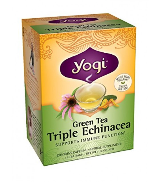 [Yogi Teas] Green Tea For Your Body With Triple Echinacea  At least 70% Organic