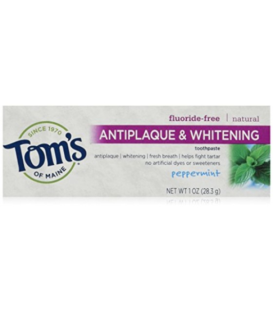 [Tom`S Of Maine] Trial Sizes Tthpst, TC+Whiten, Peppermint