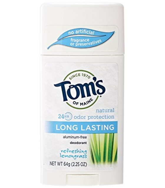 [Tom`S Of Maine] Deodorant Long Lasting Stick, Lemongrass